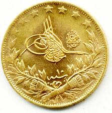 1327/10 SULTAN RESAD 100 KURUS OTTOMAN TURKISH GOLD COIN  EF-UNC