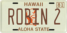 Magnum PI Tom Selleck 1980 Hawaii Robin 2 License Plate