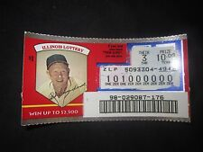 1996 Illinois Scratched Lottery Ticket of Red Schoendienst - St. Louis Cardinals