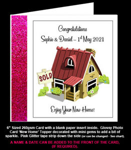 Congratulations on your New Home Card, Welcome to New Home, Personalised Card