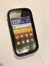 Samsung Galaxy Young S6310T Fitted TPU Flexible Gel Skin Case Black TPU6504-122