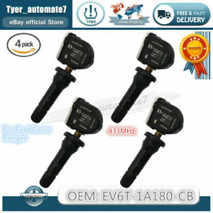 NEW 4PCS TPMS Tire Pressure Sensor 433Mhz For Ford Focus Ranger EV6T-1A180-CB