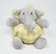 NAT & JULES BABY GREY & YELLOW ELEPHANT STUFFED ANIMAL PLUSH TOY LOVEY RATTLE