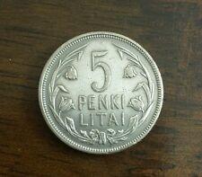 5 litai silver coin 1925 lithuanian