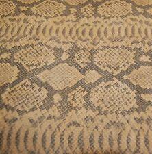 150 sf. 3oz. Tan Pig Split Suede Python Print Leather Hide Skin N23BB