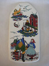 Norway Torskefiske Handpainted Silkscreen Gerd Design Wall Plaque, 12 3/4""