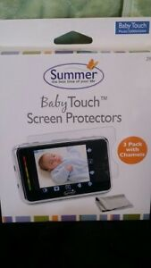 NEW - 3 PACK With Chamois Summer Infant Baby Touch Monitor Screen Protector