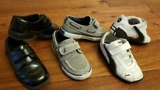 Puma Nautica Toddler Boy's Black Dressy White Athletic Sneakers Shoes 9 Lot
