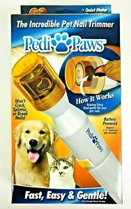 PediPaws Pet Pedicure Nail Trimmer Filing Grooming Tool / As seen On Tv