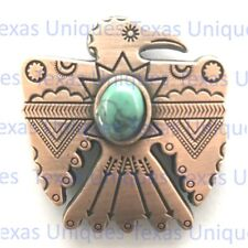 Southwest Thunderbird Concho With Turquoise Stone CON303-A-ACPR