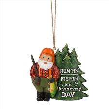 NEW Midwest-CBK – Huntin' Fishin' and Lovin' Everyday Outdoorsman Santa Ornament