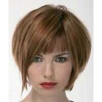 100% Real Hair! Towheaded Straight Short Human Hair Vogue Women's Wig