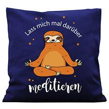 K128 wandtattoo-loft Déco Coussin Paresseux Méditer Yoga Détendez-vous