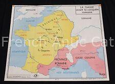Affiche scolaire 3 4 Gaule avant conquête romaine Empire Romain 117 Rossignol