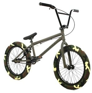 "Elite 20"" BMX Destro Bicycle Freestyle Bike 3 Piece Crank Army Green NEW 2020"