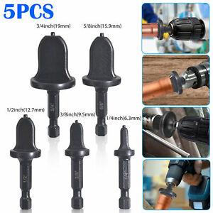 5PCS Air Conditioner Swaging Drill Bit Tube Expander Set Flaring Handle Kit Tool