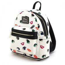 Loungefly Princess Eye Lips AOP Mini Backpack Women's Bag Cartoon Art WDBK0203