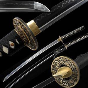 Sharp Japanese Samurai Sword Nihontou T10 Steel Blade with Clay Tempered #922