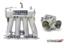SKUNK2 Intake Manifold Pro Silver+Throttle Body 68mm 88-00 Honda Civic D15/D16