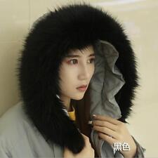 Winter Women Faux Fur Collar For Winter Coat Down Jacket Hood Scarf Shawl Wrap