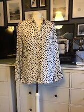 Ovesized Shirt Hearts S 8 10 12 White Pop Art Artisan Lagenlook
