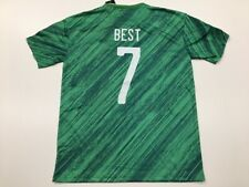 Northern Ireland George Best #7 Green Jersey Men Size L Large Free Shipping