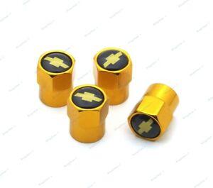 4pcs Car Tire Valve Stems Dust Caps Covers Wheel Tyre Parts Logo For Chevrolet