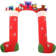 New 9.5' Airblown Inflatable Christmas Stockings w Gifts Archway Yard Decor