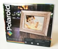 """Polaroid 8"""" Digital Picture Frame Distressed Gray Wood Frame - Brand New in Box"""