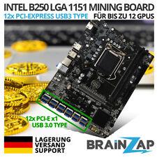 B250 BTC B250C Mining Mainboard 12 GPU 12x PCI-Express PCIe LGA 1151 Motherboard