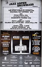 Jazz Aspen Snowmass 2001 Concert POSTER with DIANA KRALL - PATTI LABELLE - LANG