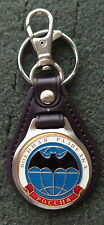 RUSSIAN DOG TAG PENDANT MEDAL faux  leather keychain  INTELLIGENCE