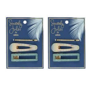 Sincerely Jules For Scunci Acrylic Salon Clip & Bobby Pin Set  Bundle Of 2