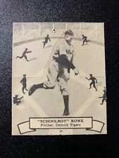 1937 OPC BATTER UP #134 LYNWOOD SCHOOLBOY ROWE O PEE CHEE DETROIT TIGERS V300