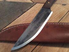 Custom Bushcraft Camp Knife High Carbon With Leather Sheath