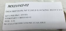 MS21042-02 SELF LOCKING NUT  SIZE:2-56 CAD II PLATED PACKAGE OF 100/EA