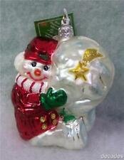 New Slavic Treasures Glass Ornament - Having A Ball (Red) Snowman 2002