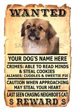 Tibetan Spaniel Dog Wanted Poster Flex Fridge Magnet Personalized Name