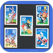 LOONEY TUNES Complete Set of MINT Single Stamps 3137, 3204, 3306, 3391, 3534