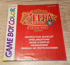 Gameboy Color (GBC) / Zelda - Oracle of Seasons -Anleitung/Instructions /dt. PAL