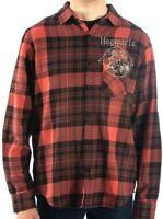 Men's Size XLarge Warner Bros New Harry Potter Hogwarts 68% Cotton Flannel Shirt