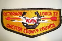 OA OCTORARO LODGE 22 CHESTER COUNTY COUNCIL PATCH GOOSE HORSESHOE SERVICE FLAP