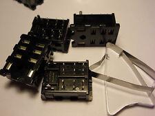 ( 4 PC. ) MATSUSHITA HL2-PS-K RELAY SOCKETS, PC BOARD SOLDER, FOR HL2 RELAYS