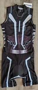 Cycling Skinsuit Invista Triathlon Trisuit 3 Pocket Jumpsuit TELEYI Size Medium
