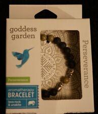 Goddess Garden perseverance aromatherapy bracelet lava rock & unakite