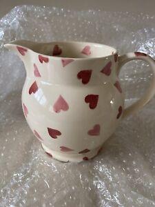 Emma Bridgewater Pink Hearts 1.5 Pint Jug. Unused. 2005 Backstamp