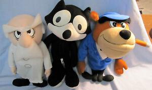 FELIX THE CAT stuffed, plush characters, Felix, Professor & Rock Bottom (2001)