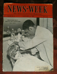 NEWSWEEK magazine January 9 1937 SENATORS NEUTRALITY TESTED