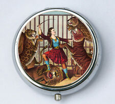 Lion Tamer Circus PILL CASE pillbox pill box holder circus sideshow