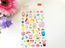 Novelty Sweet Baby Golden Edge Bunny Sticker Scrapbook card DIY Diary Gift Bag